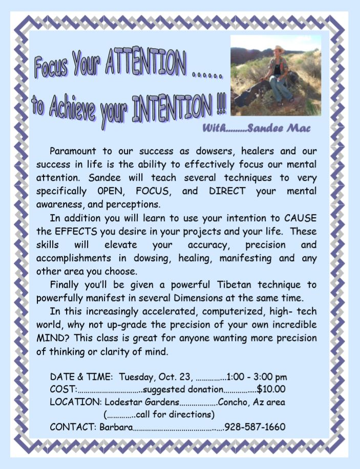 Focus Your Attention to Achieve your intention. with Sandee Mac. click